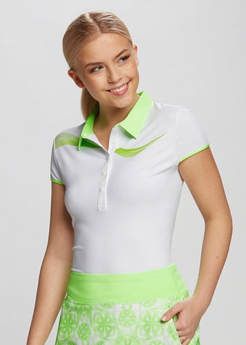 Annika Draft Polo LAK00011 White