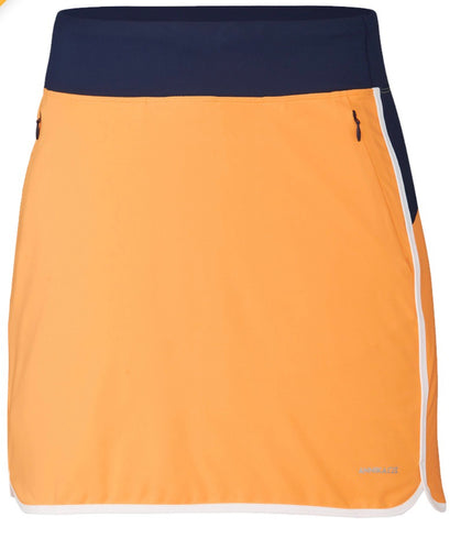 Annika On Course Colorblock Pull on Golf Skort LAB00014 Flame