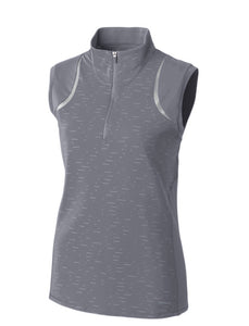 Annika Elite Sleeveless Mock Half-Zip LAK00079 ZINC