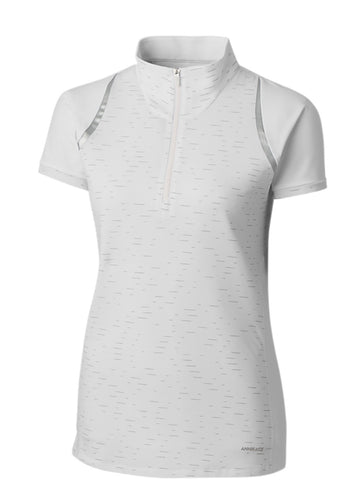 Annika Elite Short-Sleeve Mock Half Zip LAK00078 White