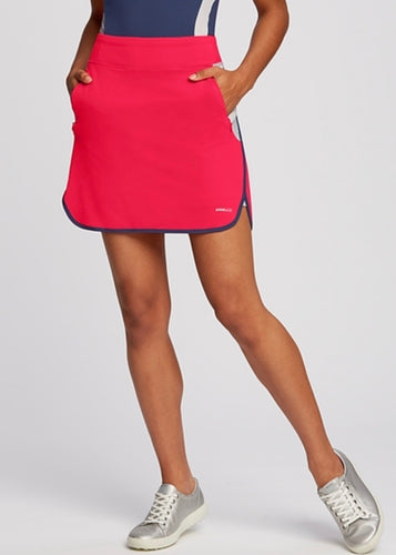 Annika Colorblock Pull On Golf Skort LAB00021 Lava