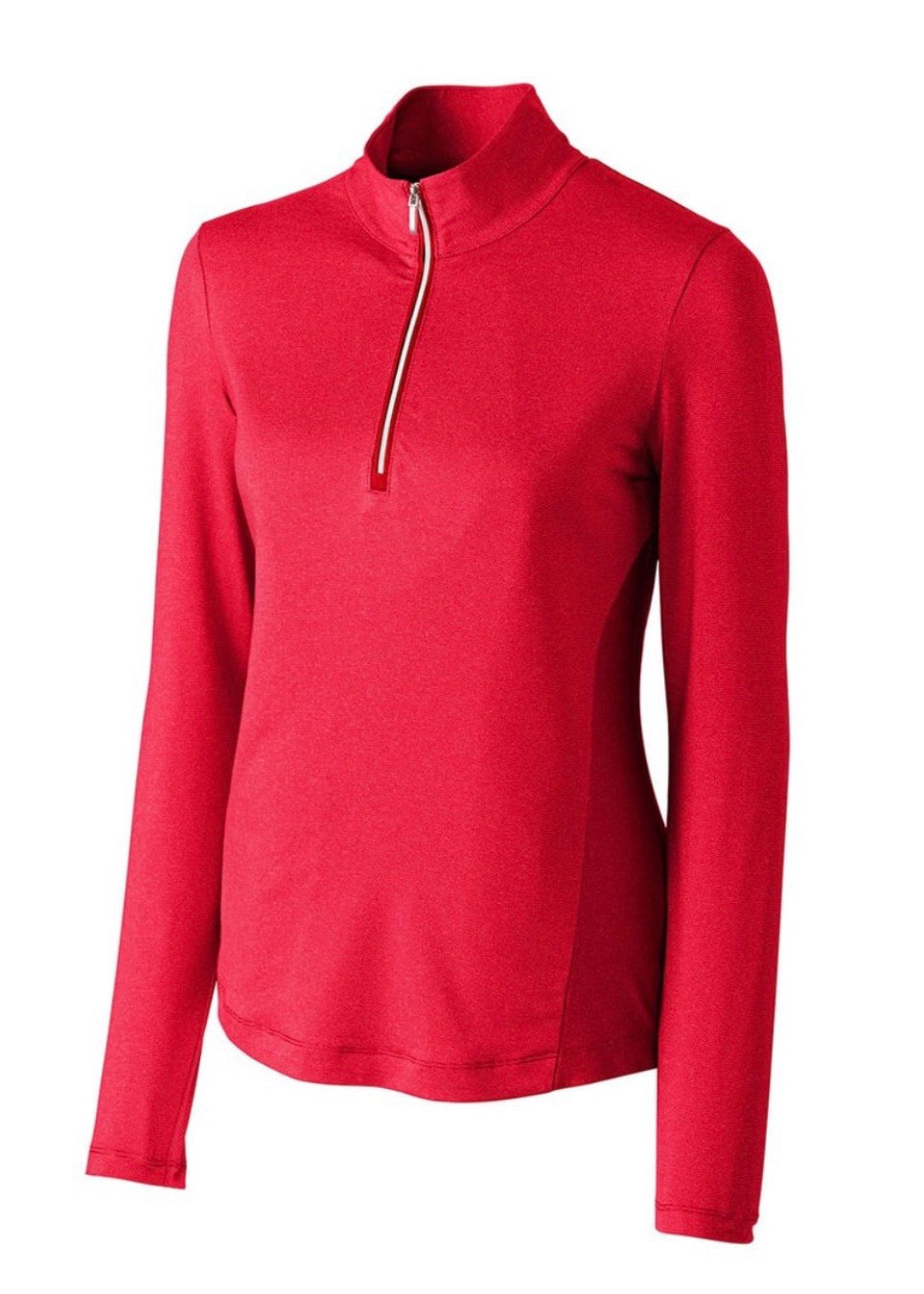 Cutter and Buck Madeline Half Zip Mock Red LCK08651 Red