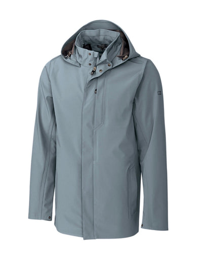 Cutter and Buck Shield Hooded Jacket MCO00028 Soapstone LARGE