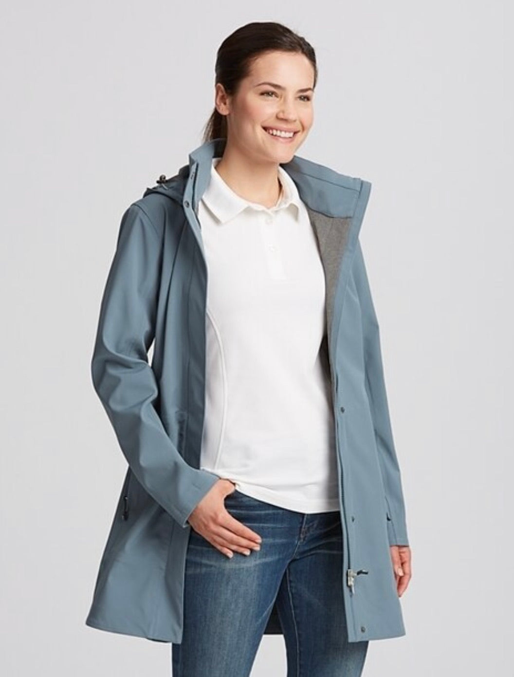 Cutter and Buck Ladies' Shield Hooded Jacket MEDIUM LCO00028 Soapstone