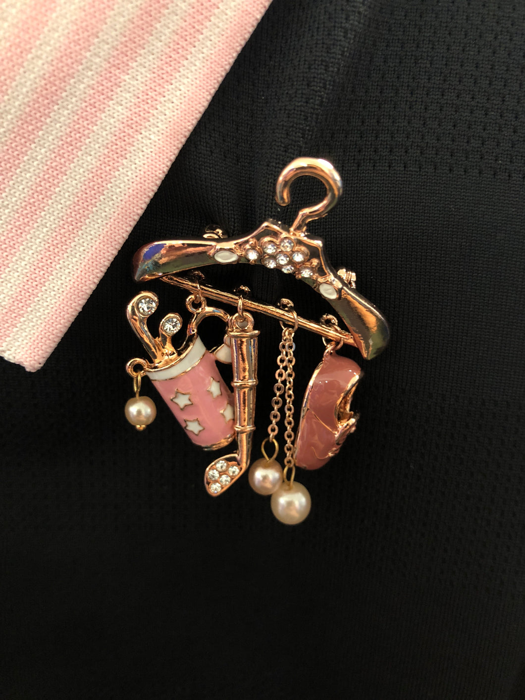 Golf Brooch