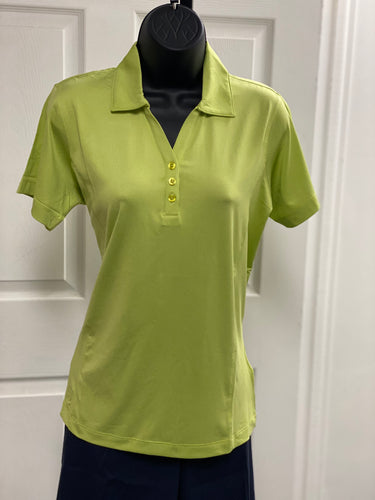Kate Lord Alessa Heather Short Sleeve Golf Polo PC14 Keylime