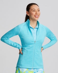Annika Particle Fleece Jacket Shine Blue LAK00093