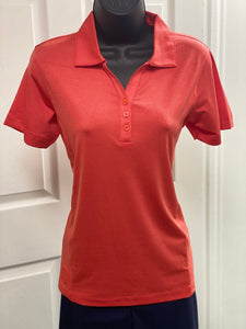Kate Lord Alessa Heather Short Sleeve Golf Polo PC14 Tiger Lily