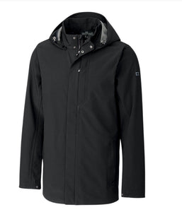 Cutter and Buck Men's Shield Hooded Jacket Black LARGE MCO00028