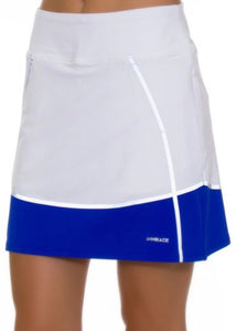 Annika Hero Colorblock Pull on Golf Skort LAB00012 White