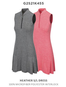 Greg Norman Heather Sleeveless Dress G2S21K455 Field Poppy Size: Medium