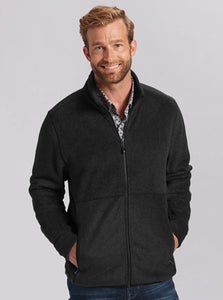 Cutter and Buck Men's Cozy Fleece Jacket MCO00048 Large Charcoal