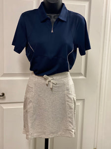 Kate Lord Addy French Terry Skirt SK10 Pearl Heather