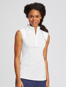 Annika Elite Sleeveless Mock Half-Zip LAK00079 White
