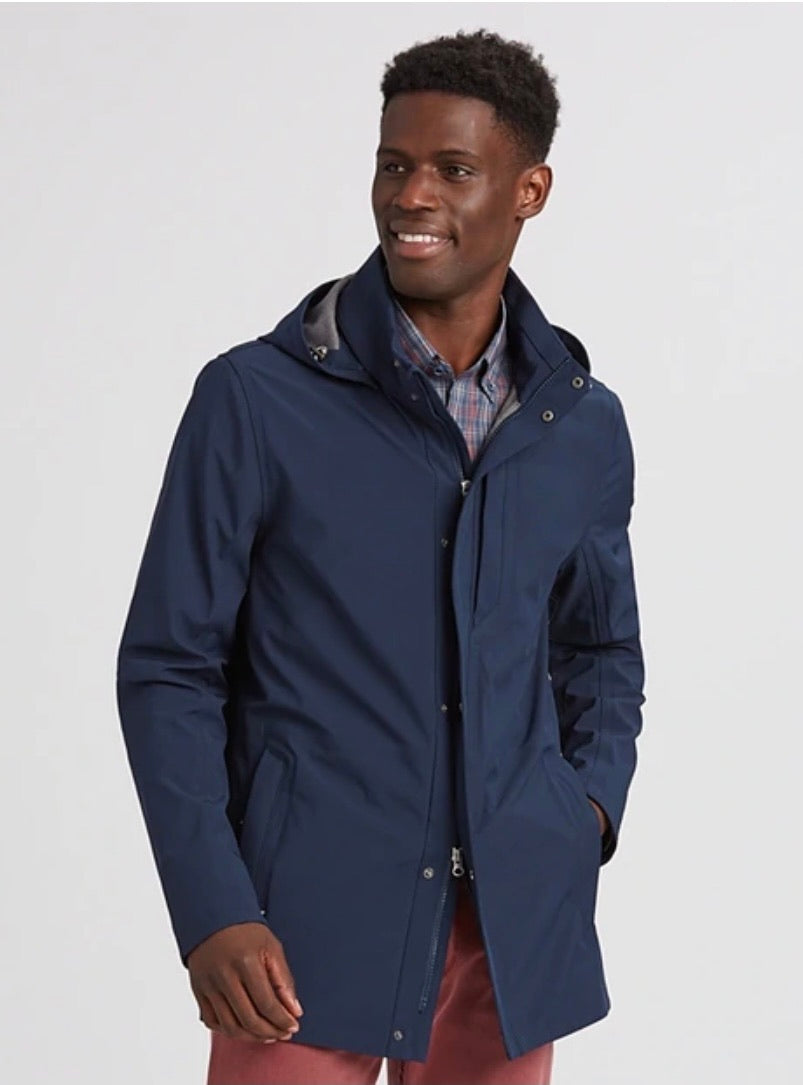 Cutter and Buck Shield Hooded Jacket MCO00028 Admiral Large