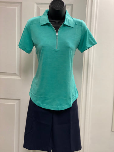 Kate Lord Corinth Space Dye Golf Polo KE03 Surf