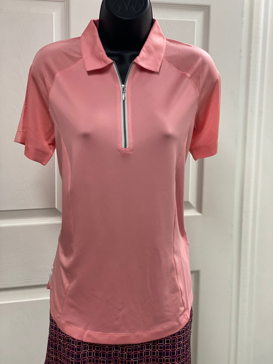 Kate Lord Annabelle Short Sleeve Polo KC01 Petal Pink