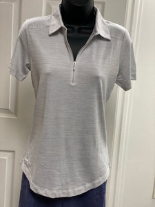 Kate Lord Corinth Space Dye Golf Polo KE03 White and Silver