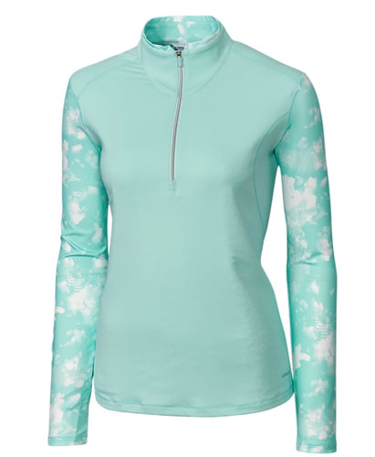 Annika Energy Mock Half-Zip LAK00098 Sonic Size: Medium