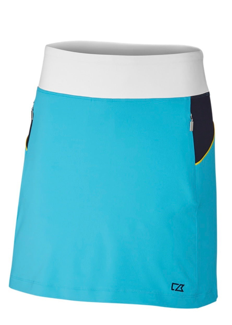 Cutter and Buck Maia Colorblock Skort LCB07133 Sky