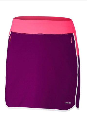 Annika On Course Colorblock Pull On Golf Skort LAB00014 PRE