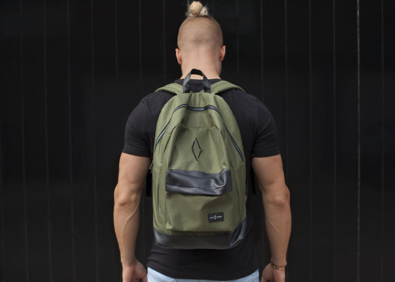 £10 CLEARANCE - Signature VITA VIVET Backpack in Khaki