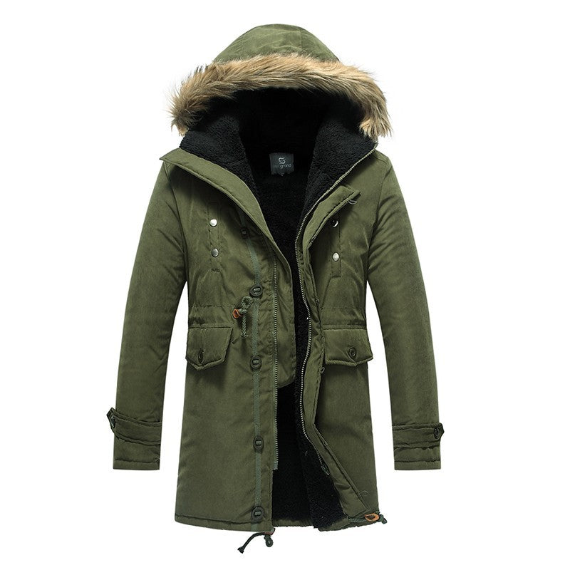 <b> Evan </b><br> Hooded Parka Jacket
