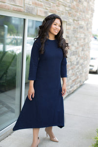 Final Sale! Moon Dress in Black or Navy, Nursing Friendly and Beyond