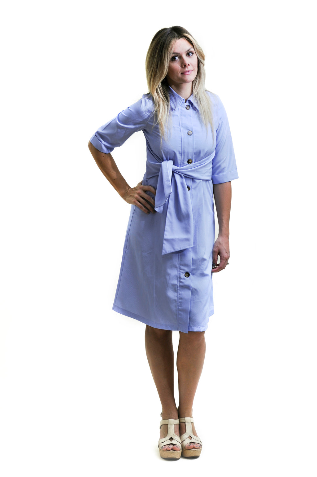 9d987caf3f1a7 Tie Shirt Dress Nursing Friendly and Beyond