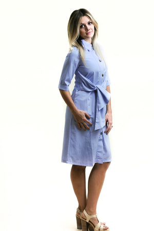 Tie Shirt Dress Nursing Friendly and Beyond