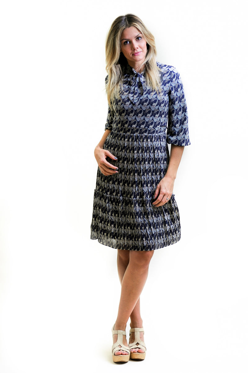 Tier Dress Nursing Friendly Midi with tie