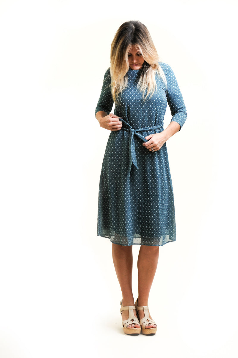 Teal Dot Nursing Friendly Dress