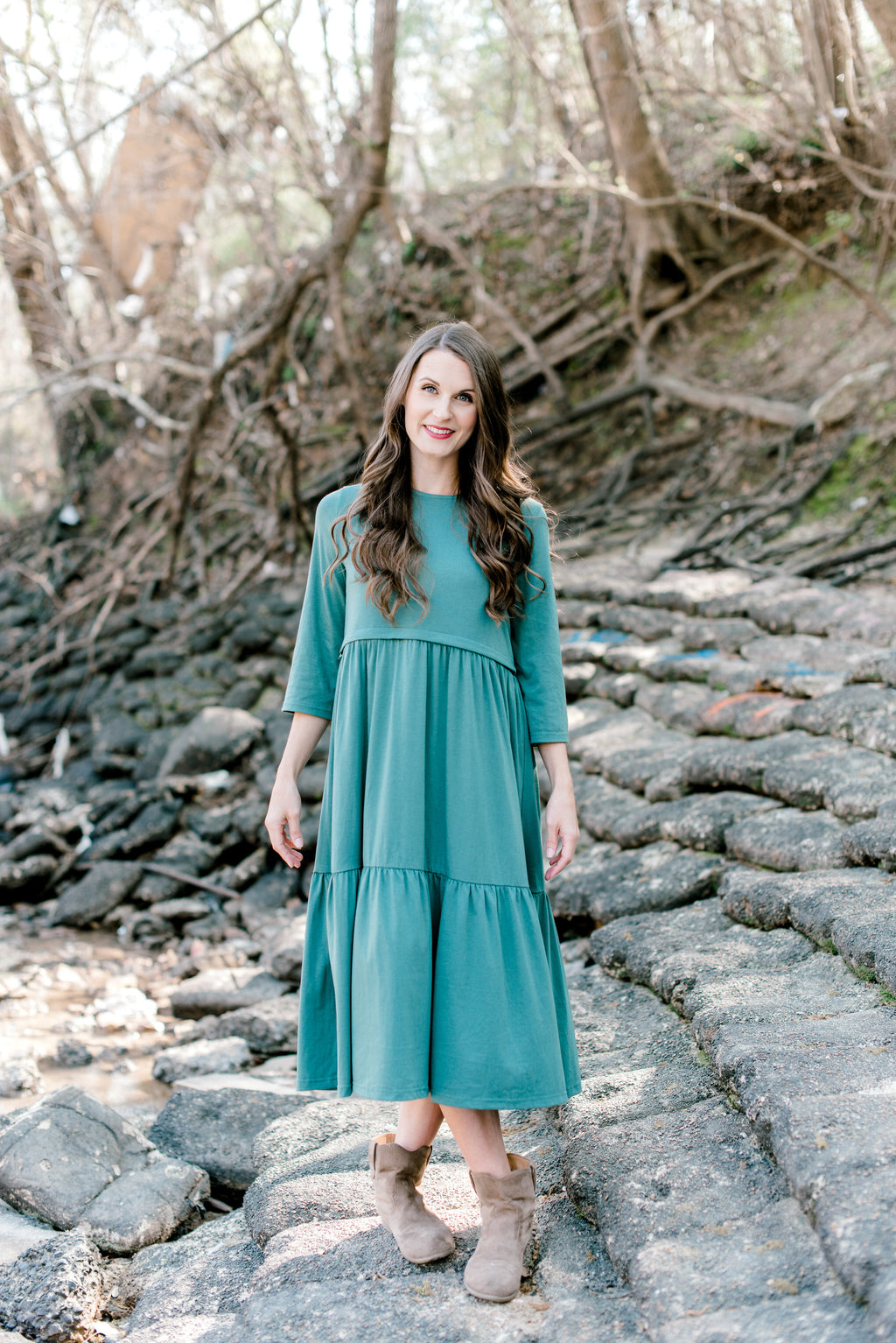 Tier Dress in Light Green