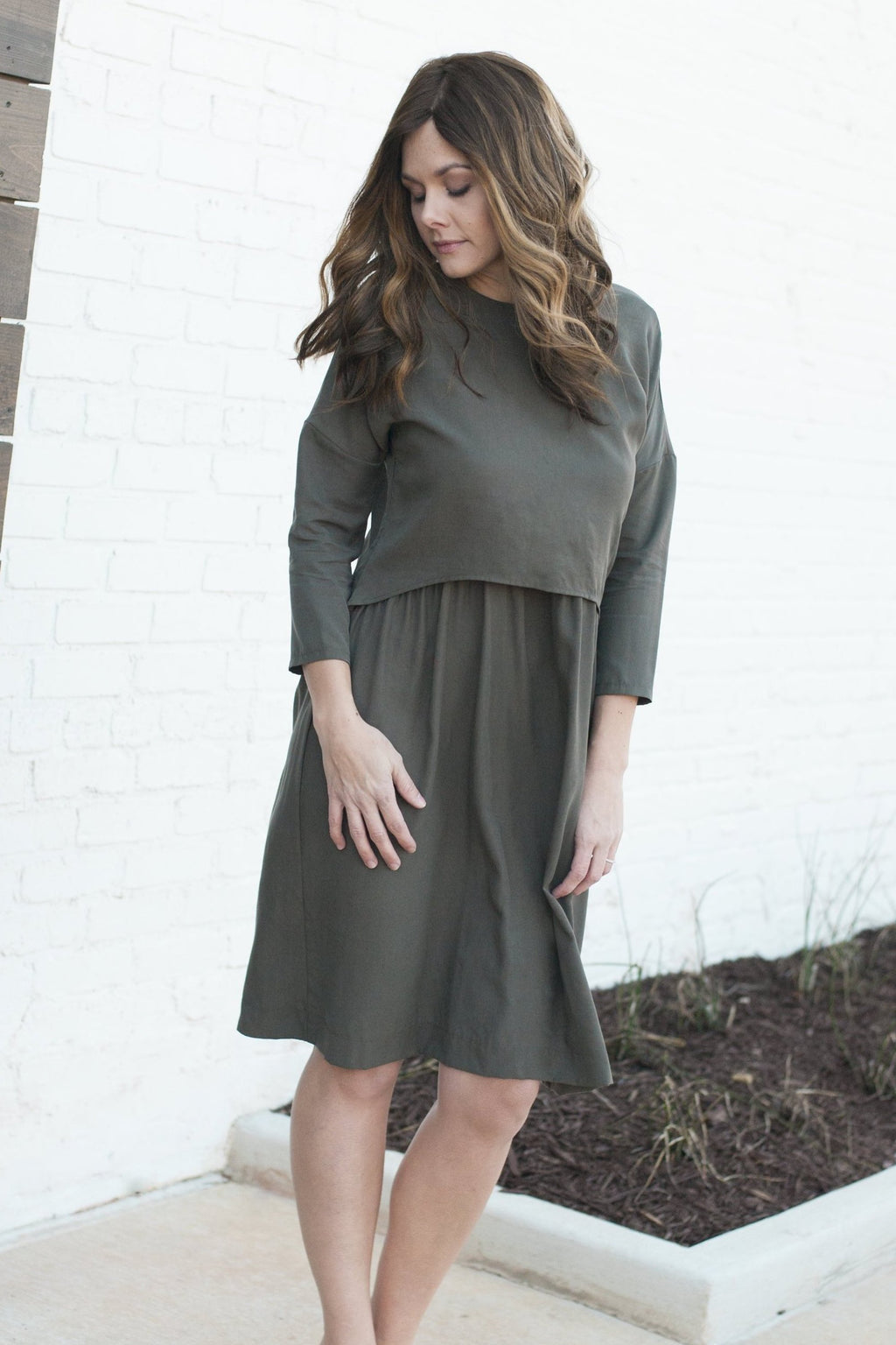 Havah Blaze- Nursing Friendly -Eco-Friendly - in Olive Tencel