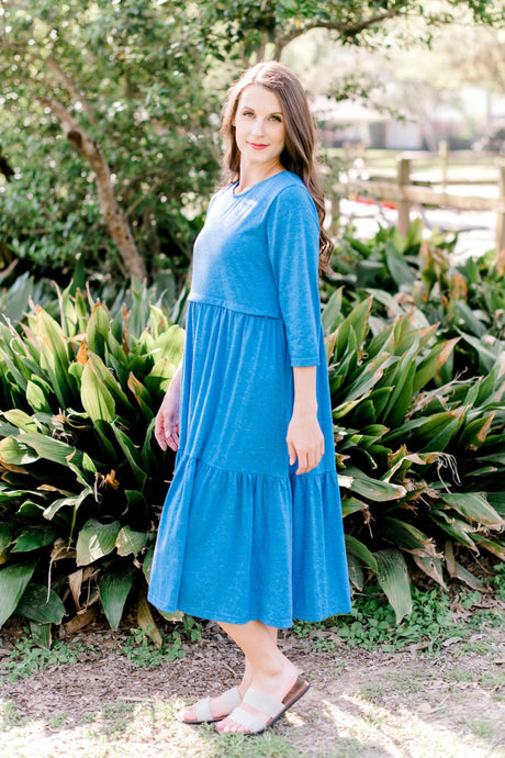 Havah Tier Dress in Light Blue *FINAL SALE* (Tiered)