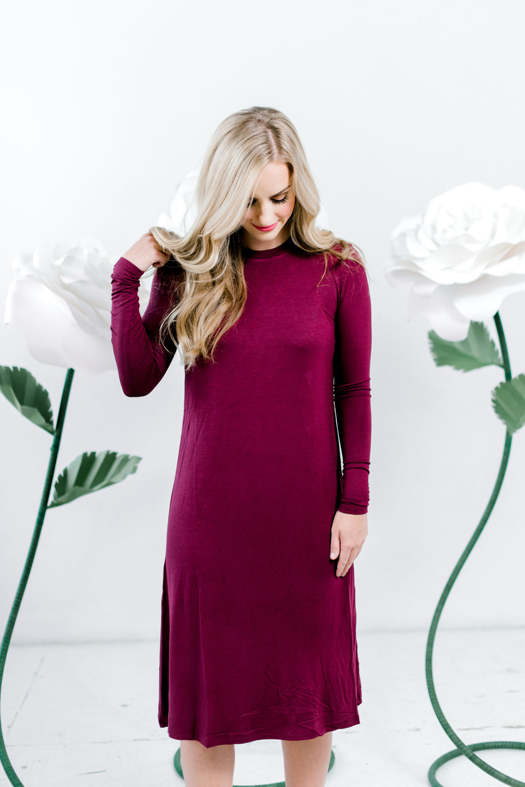 Sundrop - Nursing Friendly Midi - Burgundy