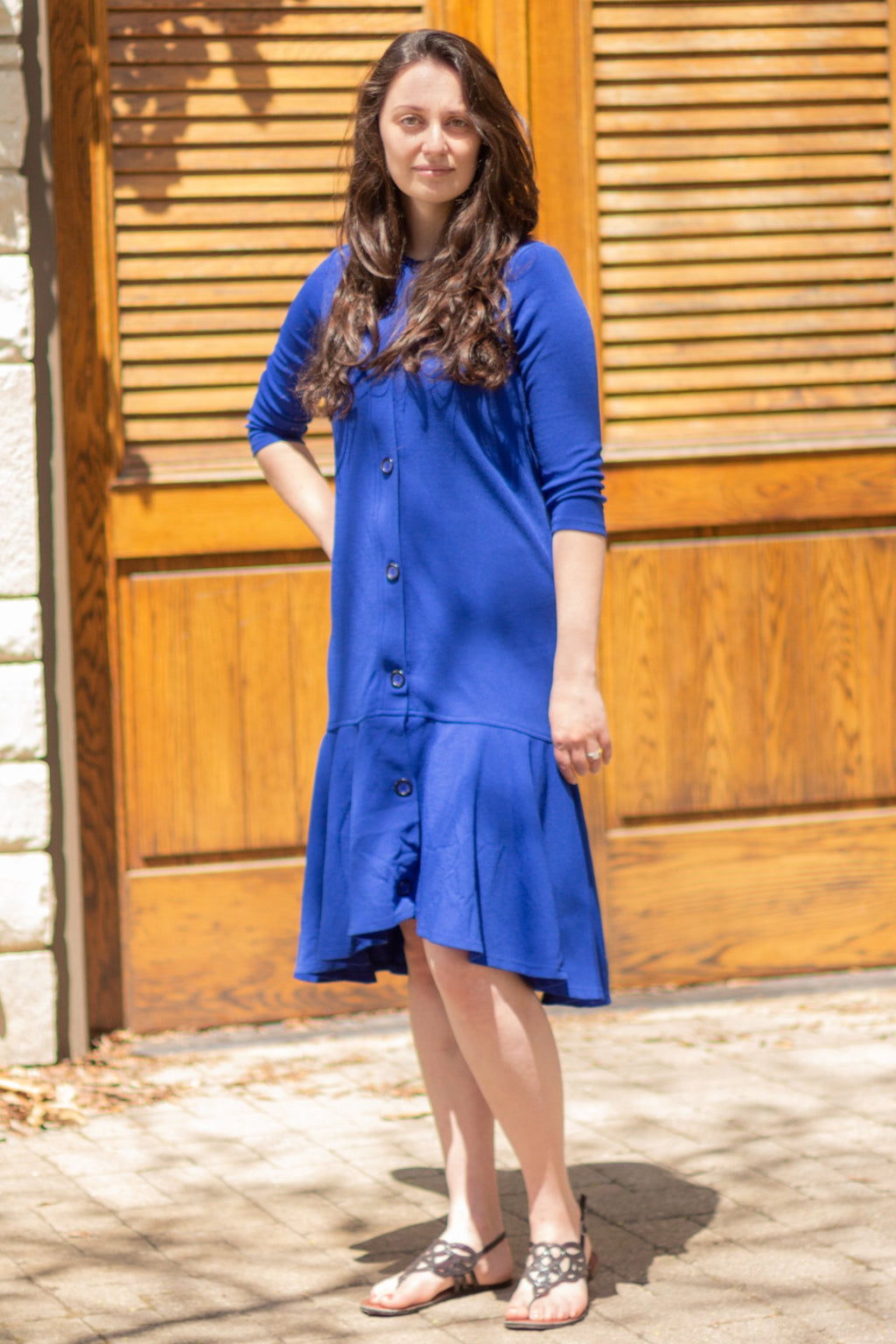 Nursing Dress with Hidden Zippers
