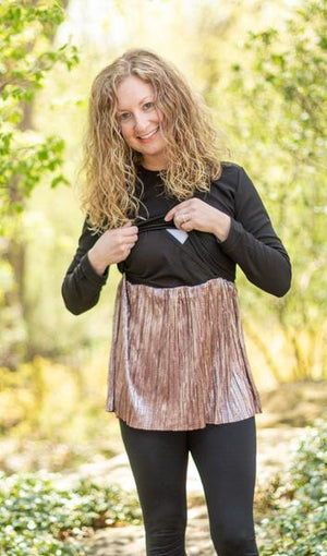 Always Shine Top in- Nursing Friendly Top with Hidden Opening (3 colors available)