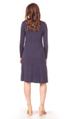 BLOWOUT FINAL SALE Sundrop Dress in Navy - Nursing Friendly Midi with Side Zippers