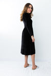 HavahWinter Velvet  - Nursing Friendly Dress in Black
