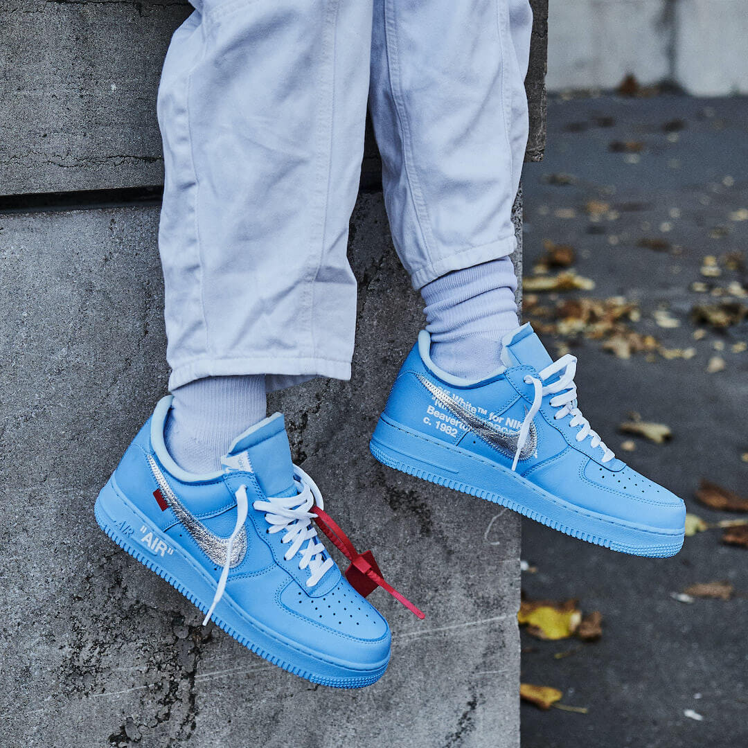 nike air force 1 low bleu off white