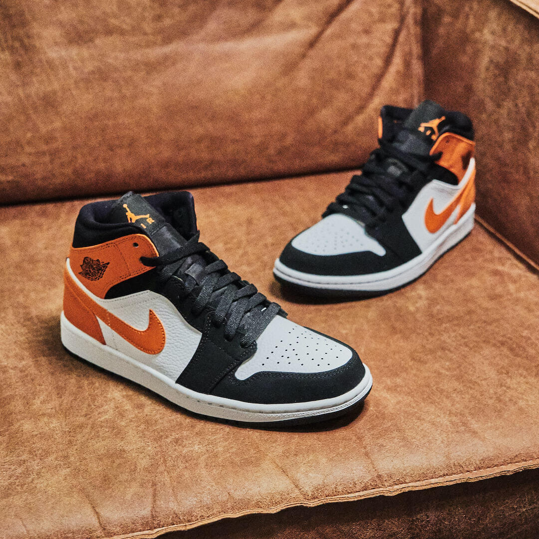 air jordan 1 mid orange femme