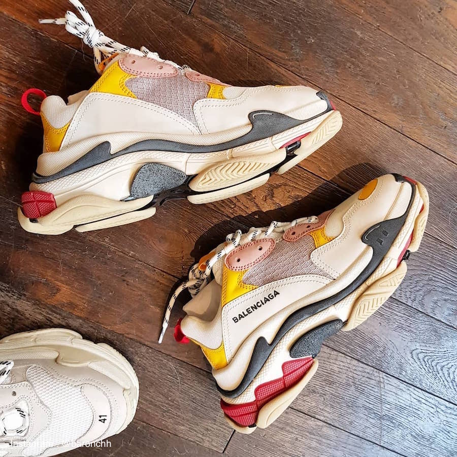 Balenciaga Triple S Cream Yellow Red (2018)
