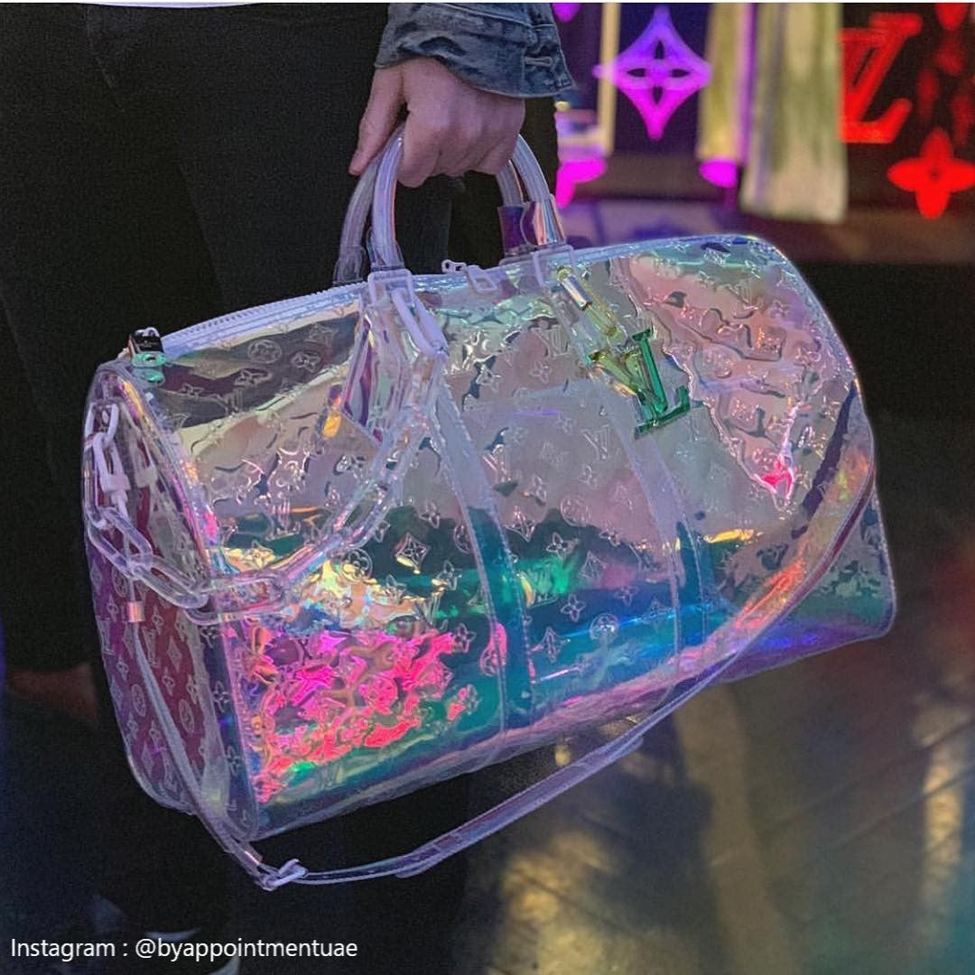 Louis Vuitton Keepall Prism Monogram Bandouliere 50 Iridescent