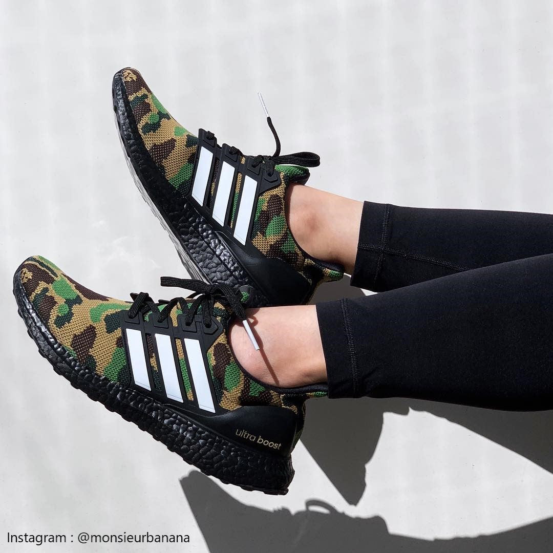 best website 2b2c7 54055 Adidas Ultra Boost BAPE Green Camo - F35097 - Wethenew