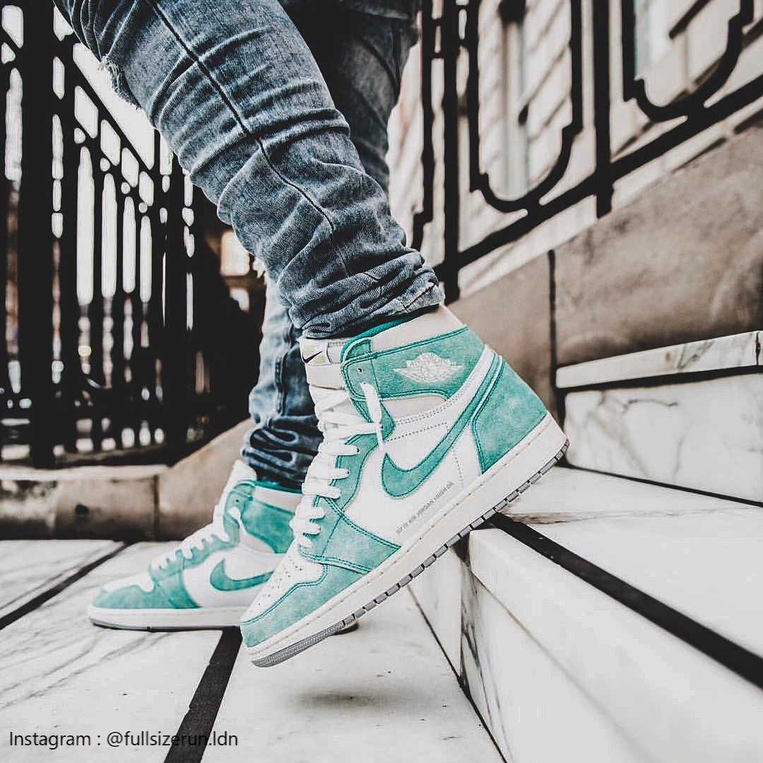 Air Jordan 1 Flight Nostalgia turbo green