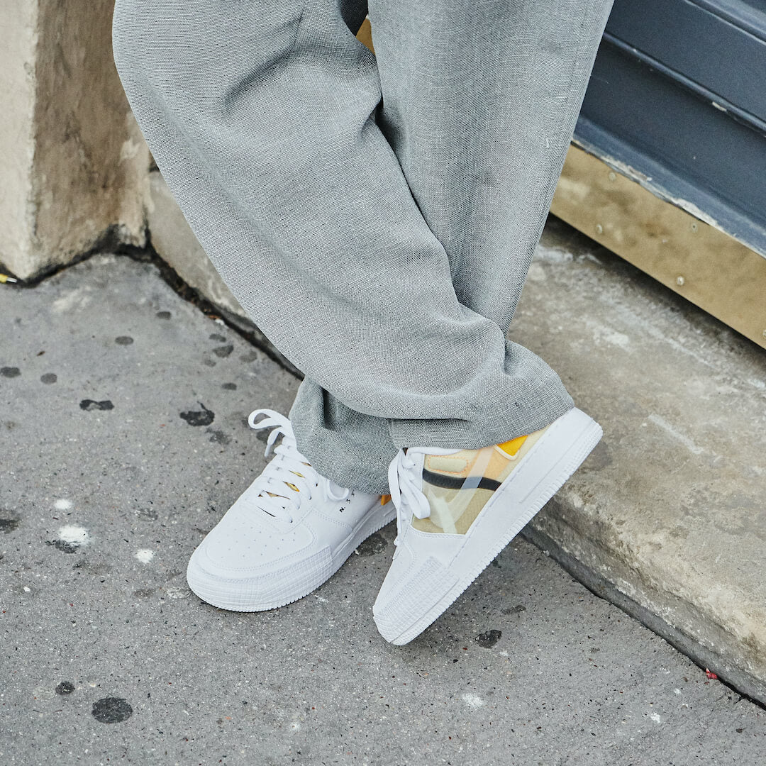 Nike Air Force 1 Drop Type White Gold Yellow - AT7859-100