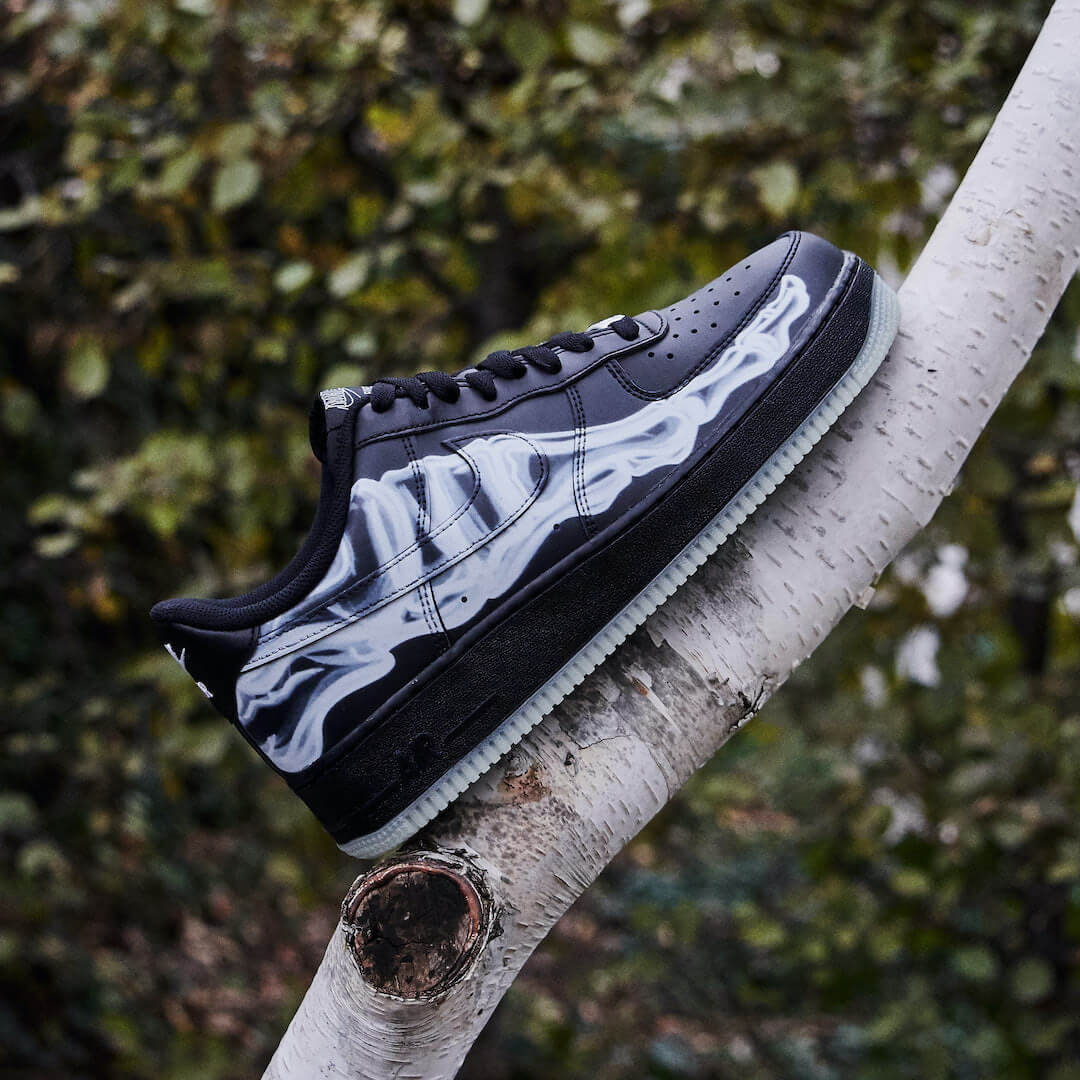 Nike Air Force 1 Low Black Skeleton Halloween (2019) - BQ7541-001