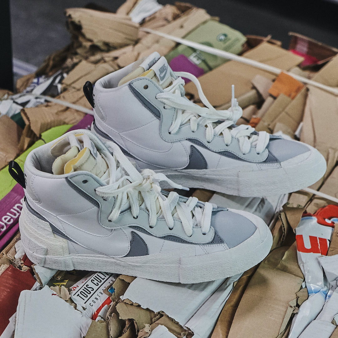 Nike Blazer High Sacai White Grey