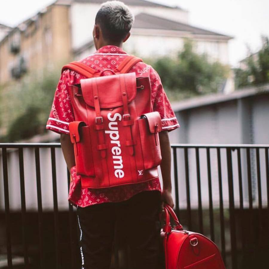 Louis Vuitton x Supreme Christopher Backpack Epi Rouge
